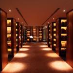 2. Knihovna v parku Hyatt, Tokio, Japonsko.