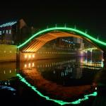 3. Noční pohled na most v Suzhou, Čína.