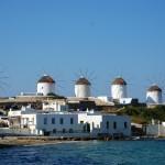 2. Větrné mlýny, Mykonos, Řecko.