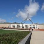 12. Sídlo parlamentu, Canberra, Austrálie.